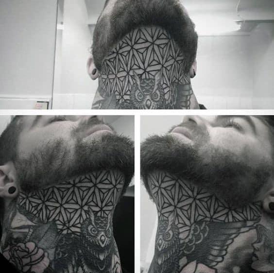 Pattern Neck Tattoo