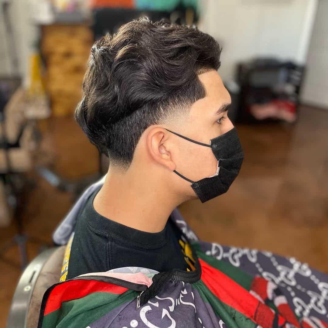 Side Swept Look For Guys With Round Face