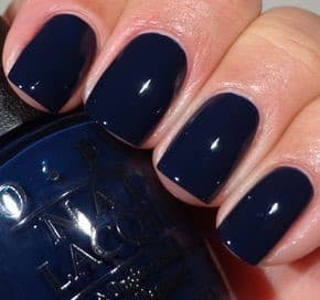 Simple Navy Blue Nails