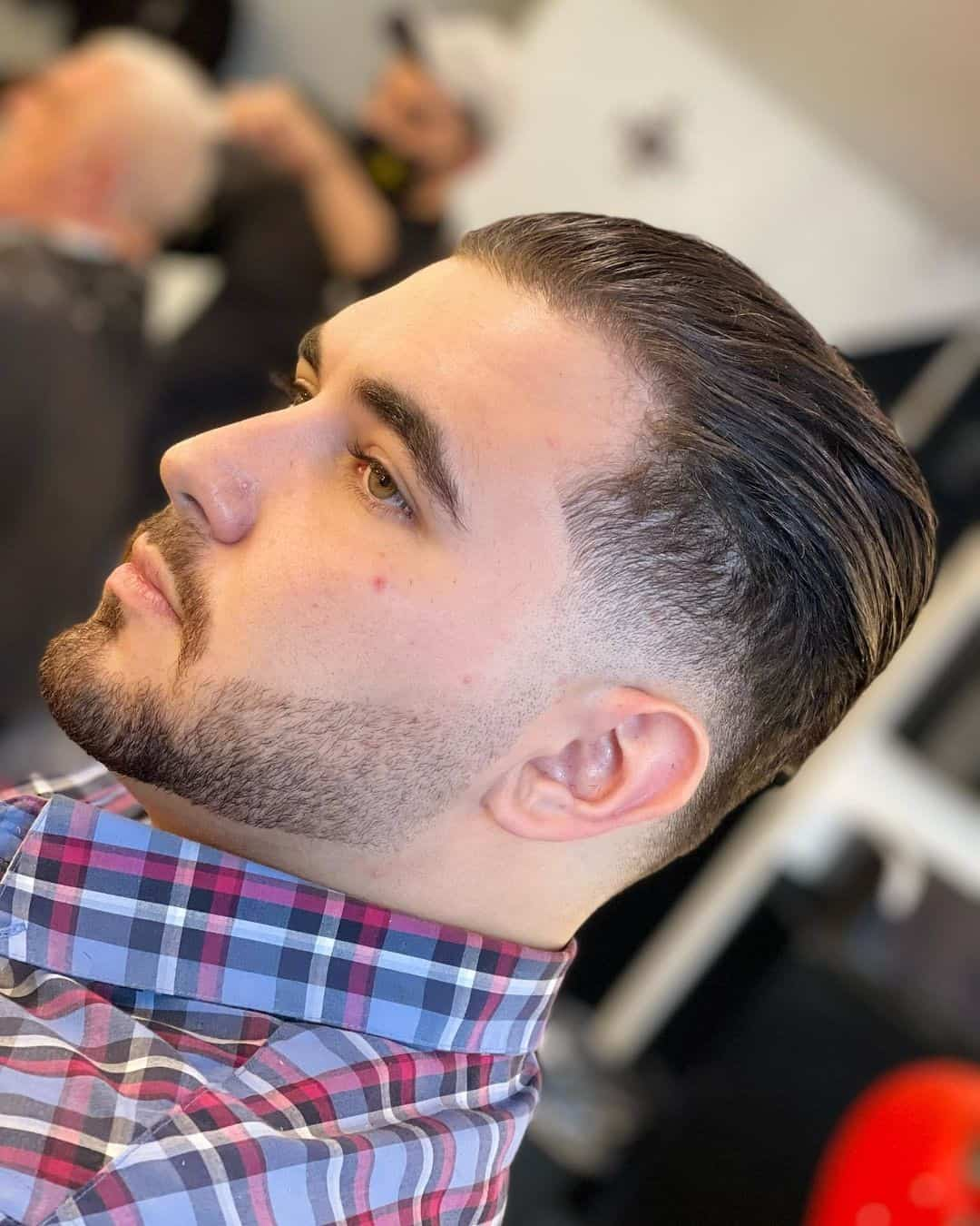 Slicked Back Look For Guys